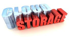 Cloud Storage. Online Data Storage on White Stock Photography