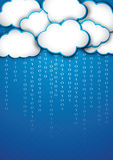 Cloud storage. Modern illustration of cloud storage Royalty Free Stock Image