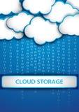 Cloud storage. Modern illustration of cloud storage Stock Photos
