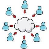 Cloud Storage Business Cartoon Stock Image