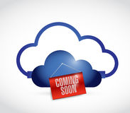 Cloud storage coming soon. illustration Royalty Free Stock Image