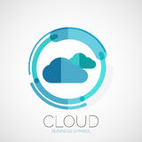 Cloud storage, company logo, minimal design. Cloud storage, company logo, business symbol concept, minimal line style Stock Photography