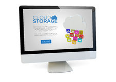 Cloud storage computer Royalty Free Stock Photos