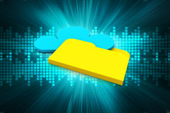 Cloud storage concept Royalty Free Stock Images