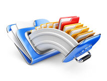 Cloud storage concept. Data storage on servers in cloud. 3D image isolated on white Stock Images
