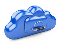 Cloud storage concept. Data storage on servers in cloud. 3D image  on white Stock Images