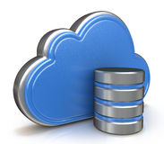 Cloud storage concept stock image