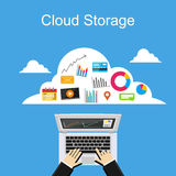 Cloud storage concept illustration. Stock Photography