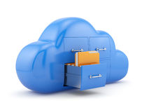 Cloud storage concept. Isolated on white background 3d illustration Royalty Free Stock Photography