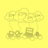 Cloud storage concept Stock Photography