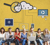 Cloud Storage Connection Devices Technology Concept Stock Image