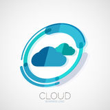 Cloud storage, 3d company logo, minimal design Royalty Free Stock Photography