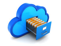 Cloud storage Stock Photo