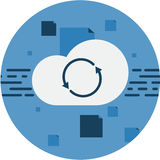 Cloud Storage Data Sync Abstract Icon. Royalty Free Stock Image