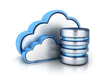 Cloud storage and database.  Royalty Free Stock Photography