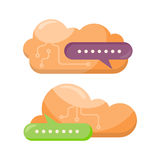 Cloud Storage Design Flat Concept. Saving Info Royalty Free Stock Photo