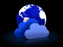 Cloud storage icon Royalty Free Stock Photography