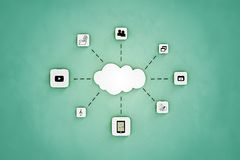 Cloud storage icon Royalty Free Stock Photo