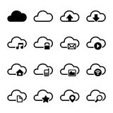 Cloud Storage Icons Set Royalty Free Stock Photo