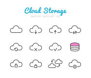 Cloud Storage icons set Stock Photo
