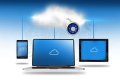 Cloud Storage Illustration Royalty Free Stock Image