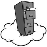 Cloud Storage Illustration. A vector cartoon illustration of a Cloud Storage concept Stock Photo