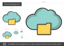 Cloud storage line icon. Stock Images