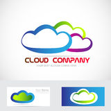 Cloud storage logo Stock Photography