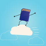 Cloud storage. Royalty Free Stock Photography