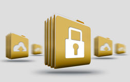 Cloud storage privacy Royalty Free Stock Photography