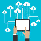 Cloud storage service and computing concept Royalty Free Stock Image