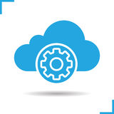 Cloud storage settings icon Royalty Free Stock Images