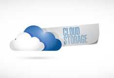 Cloud storage sign illustration design Royalty Free Stock Photo