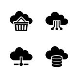 Cloud storage. Simple Related Vector Icons Royalty Free Stock Photography