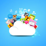 Cloud Storage Vector. Layered vector design Royalty Free Stock Photo