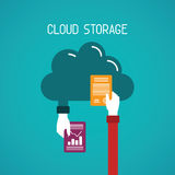 Cloud storage vector concept in flat style Royalty Free Stock Photography