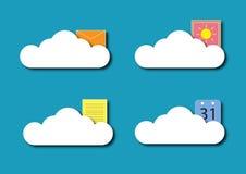 Cloud Storage Vector. Layered  design Stock Image