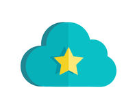 Cloud Storage Web Button . Ready Sign. Royalty Free Stock Images