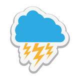 Cloud with storm icon image Royalty Free Stock Photos