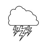 Cloud with storm icon image Stock Photos