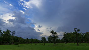 Cloud storm at the park. Time lapse of cloud storm at the park stock video footage
