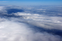 The cloud of the stratosphere. The cloud below of plane Stock Image
