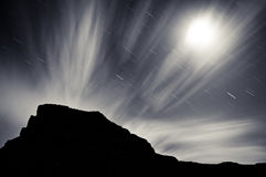 Cloud Streaked Night Stock Photography