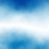 Cloud stripe. Editable vector stripe of white cloud in blue sky made using a gradient mesh Royalty Free Stock Photo