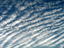 Cloud Stripes. A background pattern of striped clouds royalty free stock photography