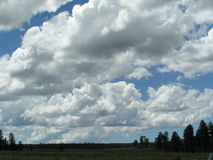Cloud Structure. Large sky full of clouds Stock Photography
