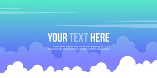 Cloud style header website collection. Vector illustration royalty free illustration