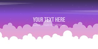 Cloud style header website collection. Vector illustration vector illustration