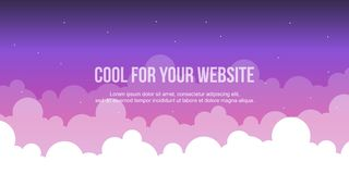 Cloud style header website collection. Vector illustration Stock Photos