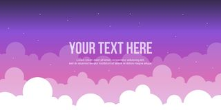 Cloud style header website collection. Vector illustration Royalty Free Stock Photos